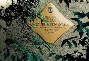 Chamberí recuerda a Miguel Hernández en el 75º aniversario de sumuerte