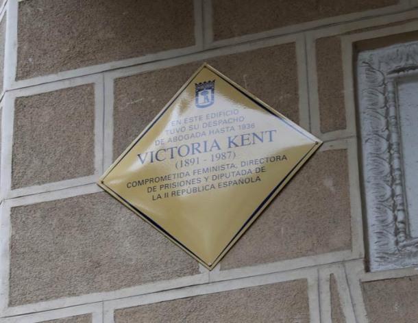 Victoria Kent Placa
