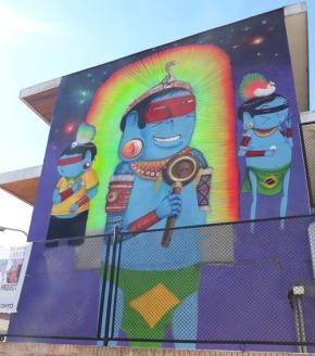 Arte urbano para dos muros deldistrito