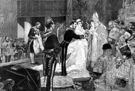 HIPODROMO Boda Real - Grabado de Vierge para Le Monde Illustré