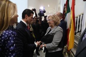 Carmena y el presidente Peña Nieto visitaron las obras de la Casa deMéxico