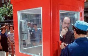 Una cabina en el barrio como homenaje a AntonioMercero
