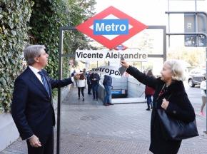 La estación de Metropolitano, rebautizada como VicenteAleixandre